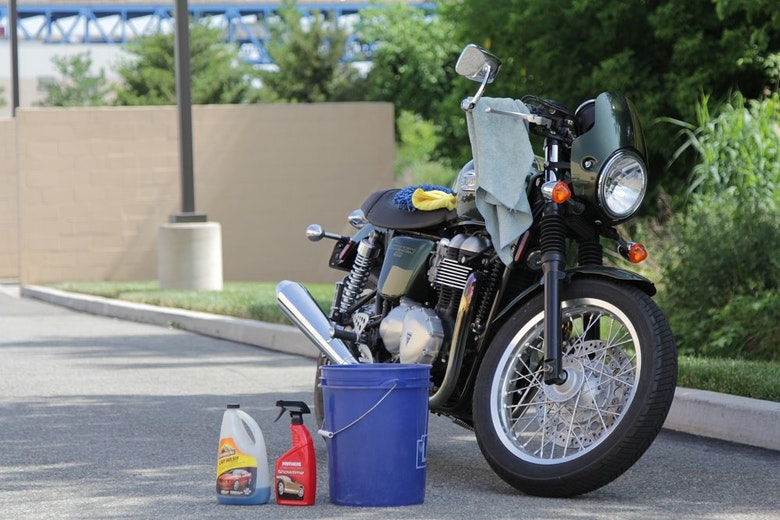 Motorcycle cleaning supplies
