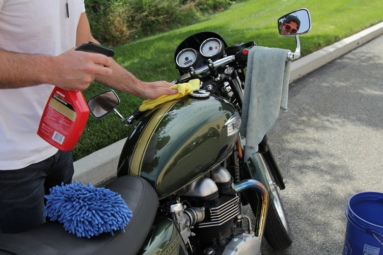 Selecting the right place to clean a motorcycle