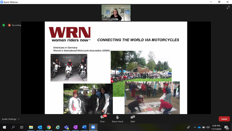 Sarah Schilke of Women Riders Now